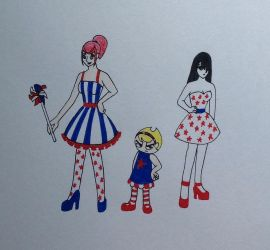 Stars and Stripes Couture by DarkGoth100