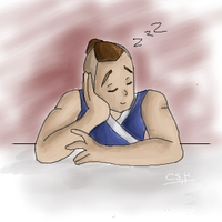 Sleepy Sokka Collab by Goldencloud