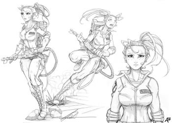proton pack princess. by DonWily-ROBOTNIK