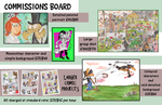 Commissions Board by Granitoons