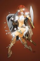 Red Sonja  - Color Practise by Sunny-X-Ray