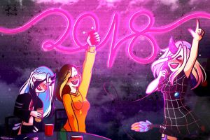 Happy New Year 2018 !~ by Nyoonchan