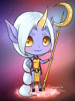 Chibi Soraka - League of Legends by kirinasan