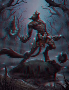 Loup Garou Conversion 3D by Fan2Relief3D