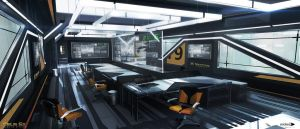 Deus Ex Mankind Divided -London tower meeting room by MatLatArt