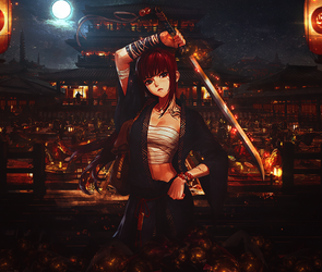 Girl Samurai Courageous in the Old Testament by BriGht-liGht-NSH
