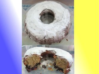 Blueberry lemon Bunt cake by Sia-the-Mawile