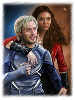 Pietro and Wanda - Silver and Scarlet by LadyMintLeaf