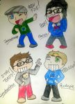 Youtuber Chibis by Hollowbeat