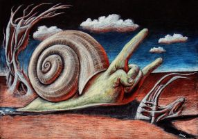 Satanic Snail by McWgogs