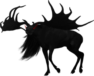 Black deer by Snow-sauria