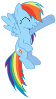 Rainbow Dash pointing by thatguy1945
