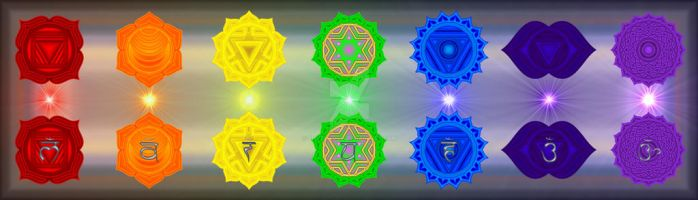The Chakras by Slivermoon
