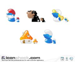 Smurfs vista icons by Iconshock