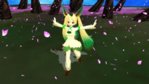 Leafeon Miku by Your-friend-Sushi