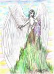 Azmadiel the Angel Winged Man Flying Person by StephanieSmall