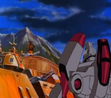 The Decepticons are blitzing Autobot City by du365