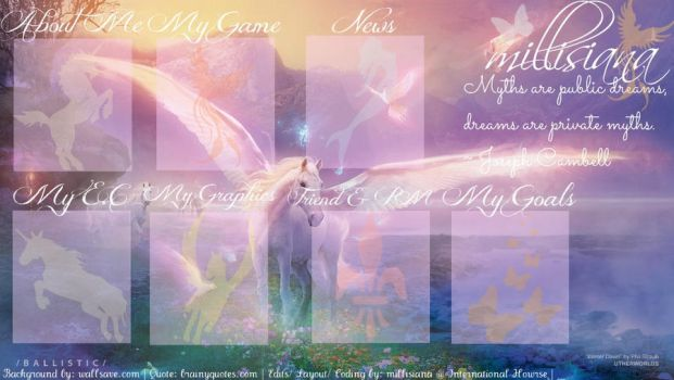 My Howrse Layout: Myths and Legends by millisiana