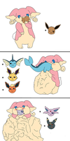 Audino and the Eeveers