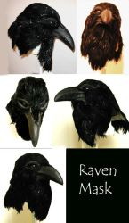 Raven Mask - Multiple Views by Foxfeather248