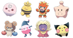Beta Baby Pokemon Set 1 by OzoneFruit