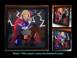 12 x 12 The Avengers Thor by The-Paper-Pony