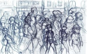 Marketplace Initial Sketch by Benjamin-the-Fox
