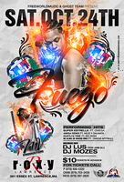Fuego Performance flyer by DeityDesignz