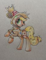 Applejack on nightmarenight by mapony240