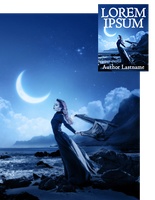Moon Lament Premade Book Cover by Viergacht