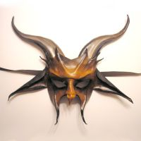 Leather Goat Mask, Baphomet by teonova