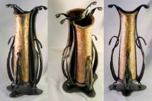 copper vase by artistladysmith