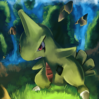 Larvitar used Stone Edge
