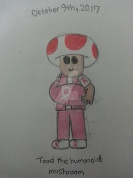 October 9th, 2017: Toad the humanoid mushroom by The-Badger-Wolf
