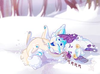Playing in the snow by giz-art
