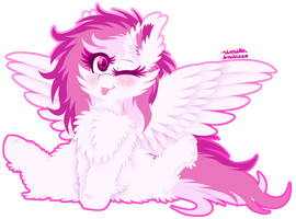 ~Commission~ Bleppy Floof by VanillaSwirl6