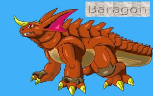 Baragon redesign by Skyegojira