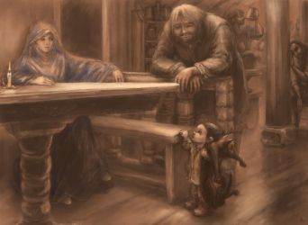 to unwritten tale about a dwarf (ill. 8) by Irsanna
