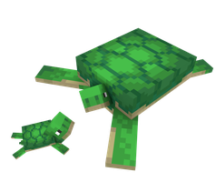 Minecraft turtle rig for Blender SOON download by Elcruellfable