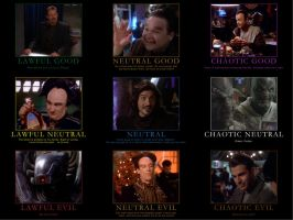 Babylon 5 Alignment Chart by CheeseDogX