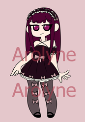 Gothic Lolita Adopt (Price Lowered) (Open) by Arolyne