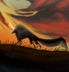 Firestorm Prologue-The Sower With Setting Sun by Red-Draws