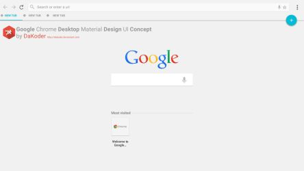 Google Chrome Desktop Material Design UI Concept by DaKoder
