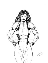 She Hulk inked by Diarmuid