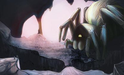 The cave of 7 legged monster by FanOfTill