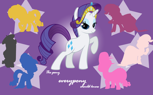 The Pony Everypony Should Know - Rarity Wallpaper by l13000