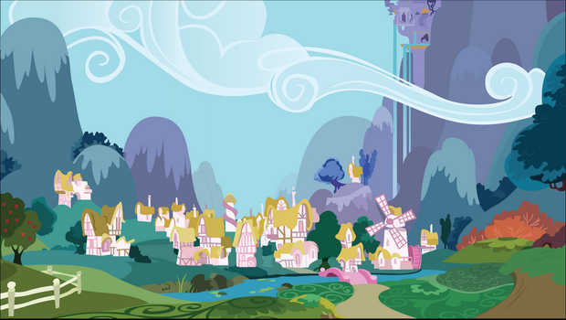 Ponyville by Hellswolfeh