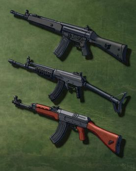 Assault Rifles (In the Cold) 3 by Hoborginc