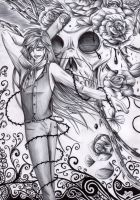 Grell Sutcliffe - Roses and Death by FuriarossaAndMimma