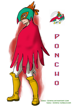Poncho the Hawlucha by Saku-Senpai